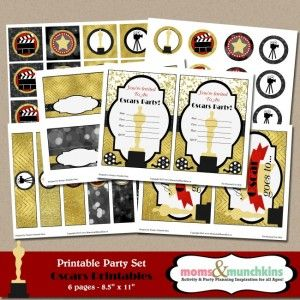 Free Oscars Party Printables