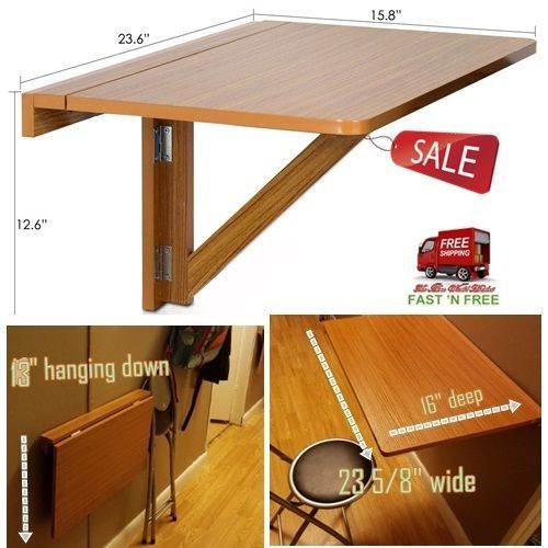 Console Table Wall Mounted Folding Wood Drop Leaf Board Counter