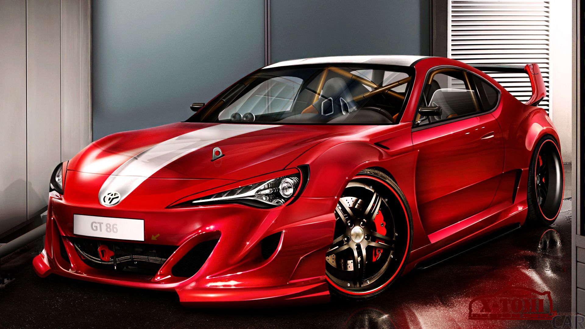 Toyota cars, photo with a brutal and tough handsome gt 86