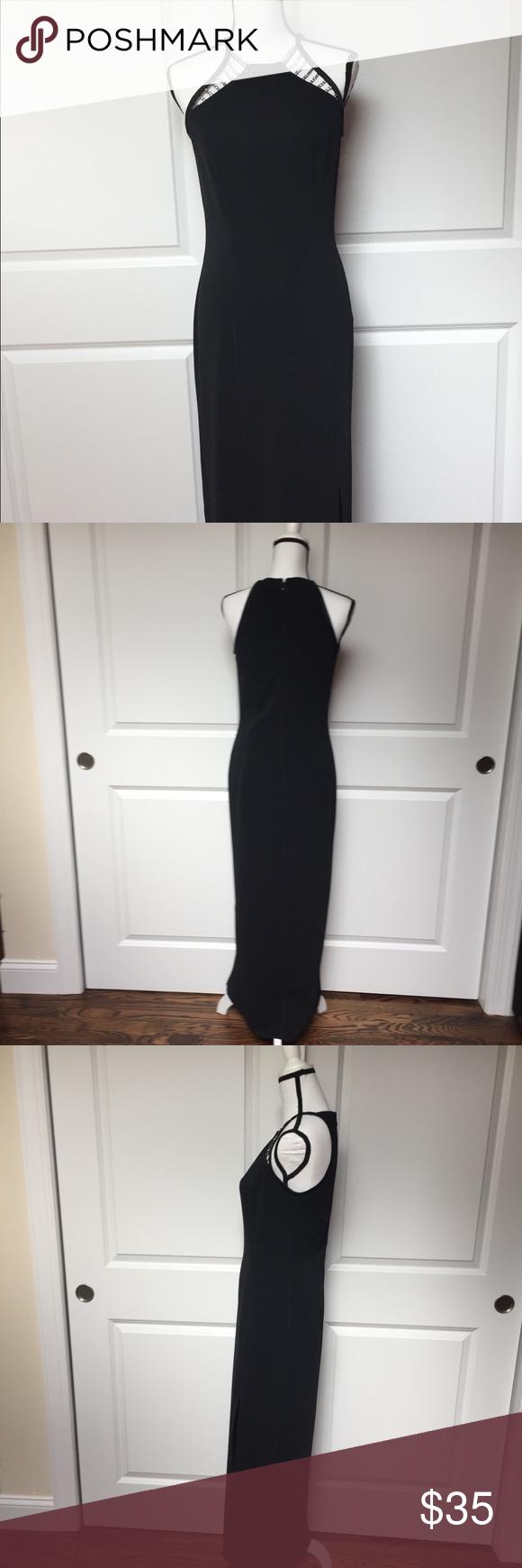 Barijay black eveningformal gown