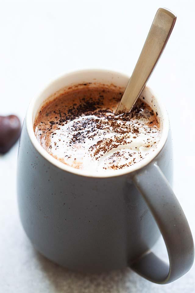 Hot Chocolate Hot Cocoa Recipe Rasa Malaysia Diy Hot Chocolate Hot Cocoa Recipe Cocoa Recipes