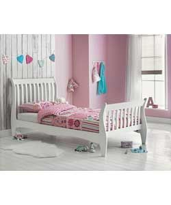 cb0c01011ee Holly Sleigh White Single Bed with Bibby Mattress.
