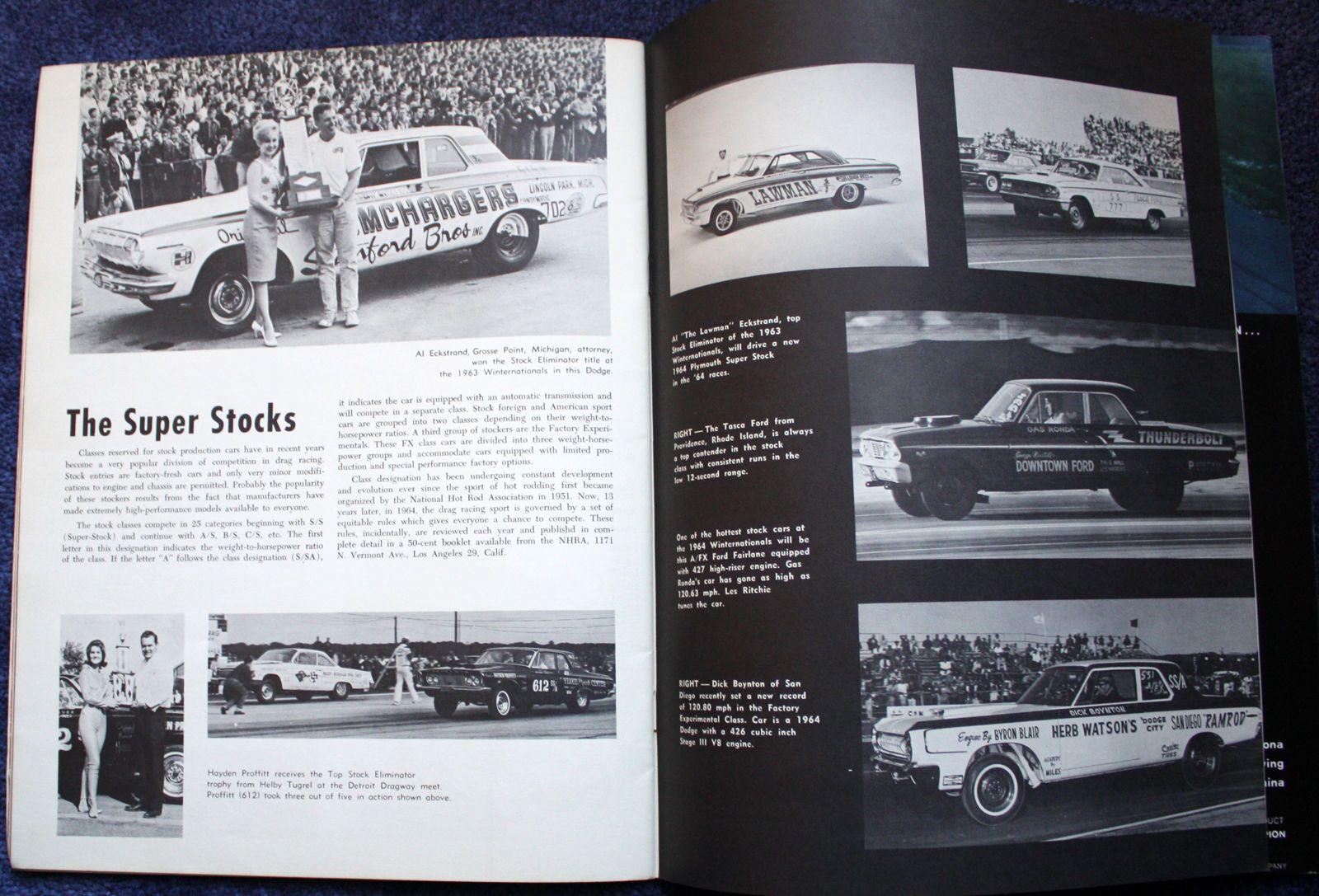 1964 NHRA Winternationals Drag Race Custom Car Show Program Entry List | eBay