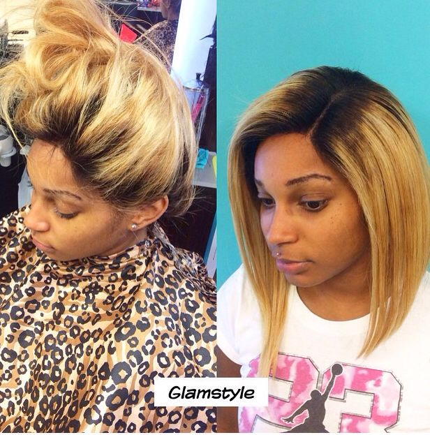 Cool Bob Weave Black Blonde Invisiblepart Bob Weave Hairstyles Hairstyle Inspiration Daily Dogsangcom