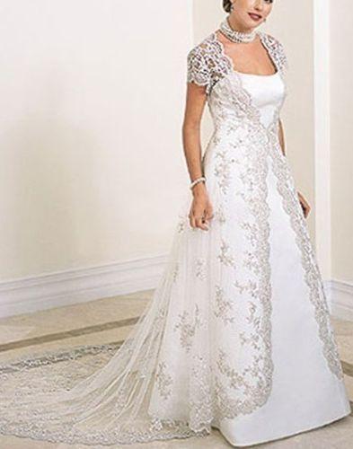New-white-ivory-wedding-dress-size-2-4-6-8-10-12-14-16-18-20-22-or-custom