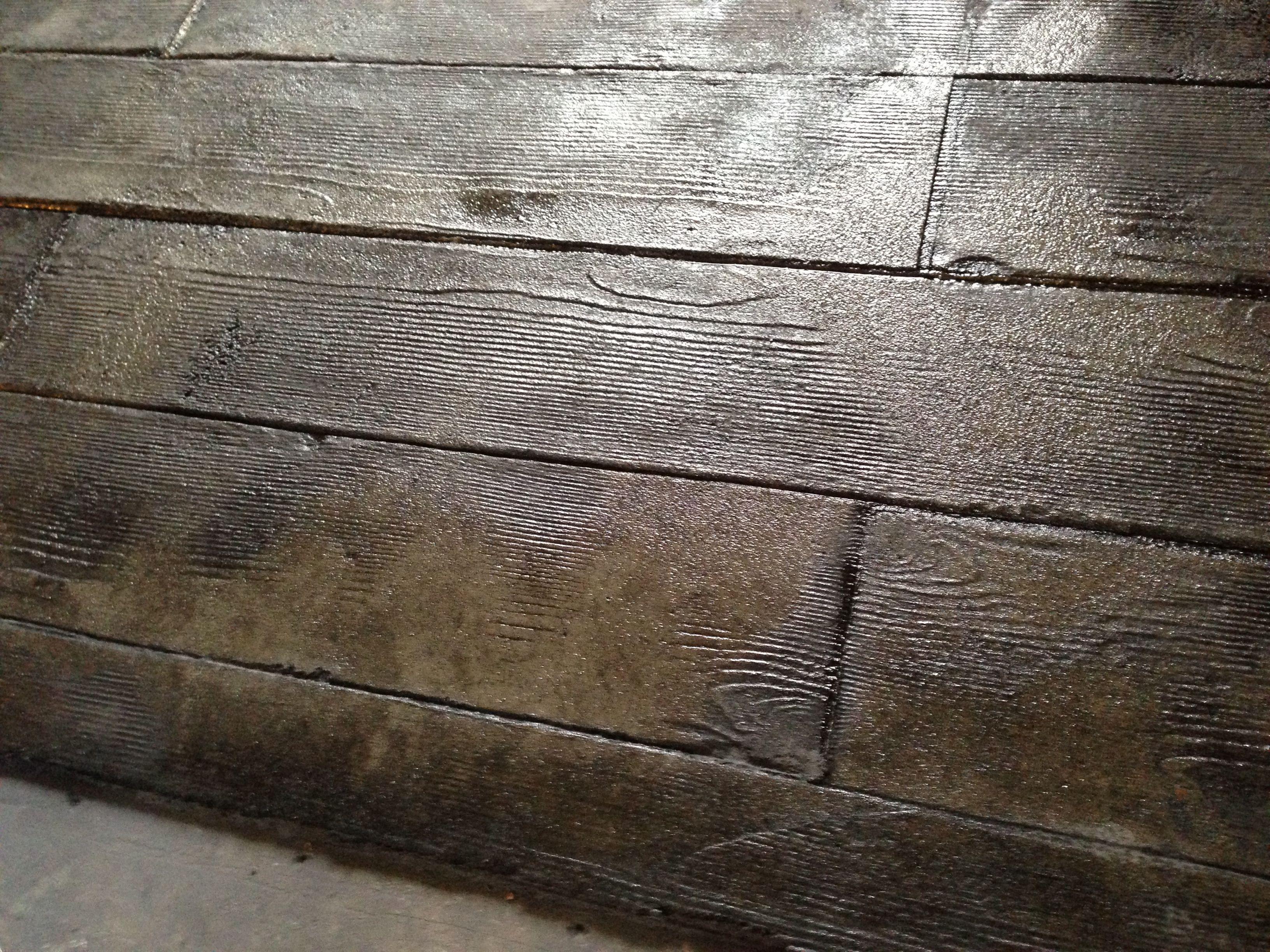 3 8 interior concrete overlay wood plank stamp for Hardwood floor concrete stamp