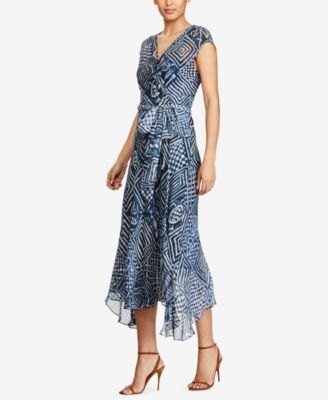 Polo Ralph Lauren Silk Gauze Wrap Dress