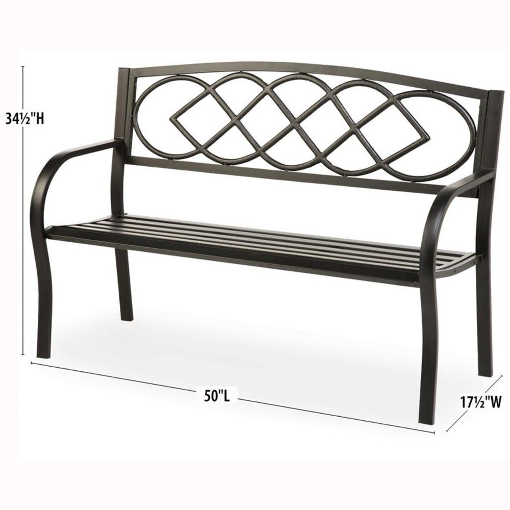 Groovy Cast Iron Outdoor Garden Bench With Celtic Knot Design In Caraccident5 Cool Chair Designs And Ideas Caraccident5Info