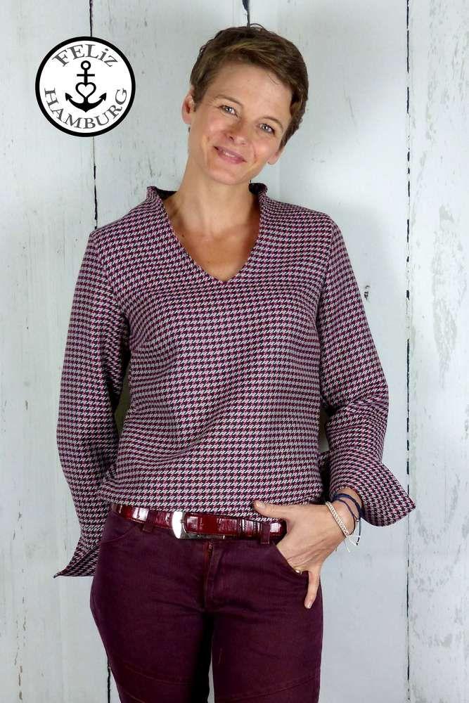 Schnittmuster / Ebook lillesol women No.38 Flora-Bluse / Bluse / Kelchkragen /Nähen Bluse / Sewing pattern / blouse