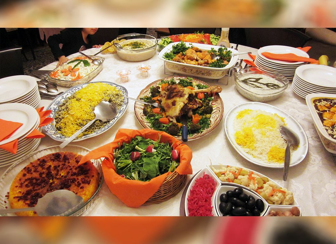Iranian Buffet Style Reception Iranians Love To Serve Meals Buffet