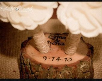 Rustic Wedding Guest Book Pen Holder Table by thatfamilyshop