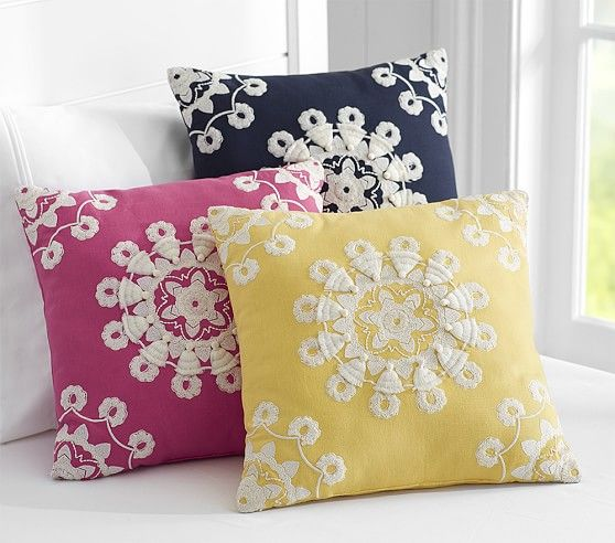 Pom Pom Medallion Decorative Pillows Pottery Barn Kids Pillows