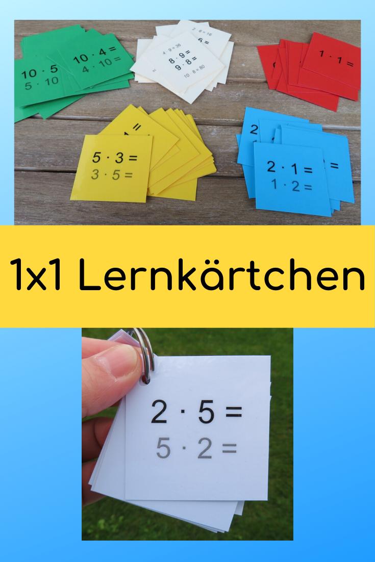 1x1 Lernkartchen In 2020 Lernkarten Einmaleins Spiele Grundschule