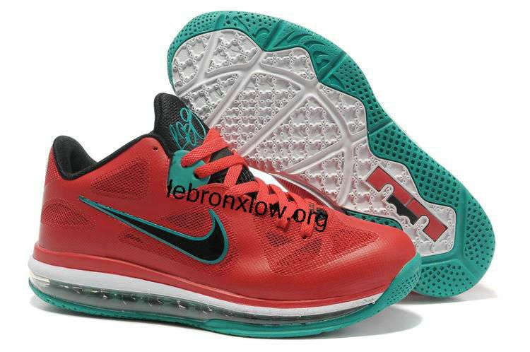Lebron 9 Low Liverpool Action Red Black White New Green 510811 601 ... 1243ce6329