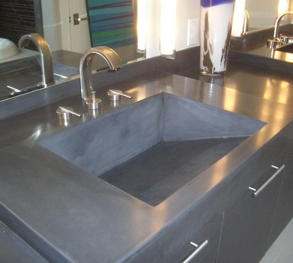 Kitchen Concrete Countertop Ideas 3