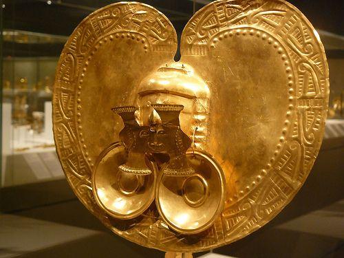 Gold Pectoral Ornament Colombia Yotoco (Calima) 1st-7th century CE Metropolitan Museum