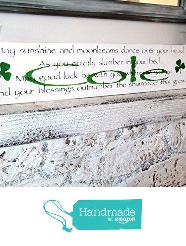 Irish Baby Nursery Décor Customized Name Wall Art Wood Signs Sayings