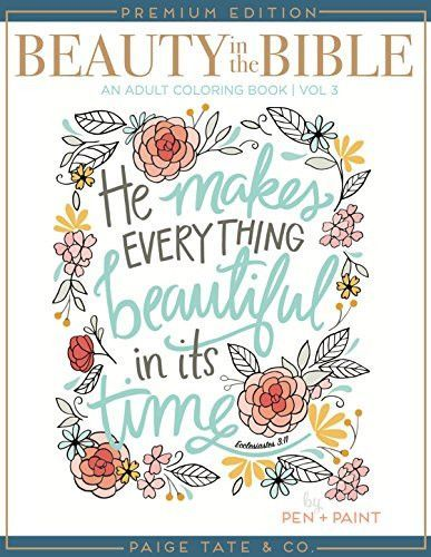 Beauty In The Bible Adult Coloring Book Volume 3 Premium