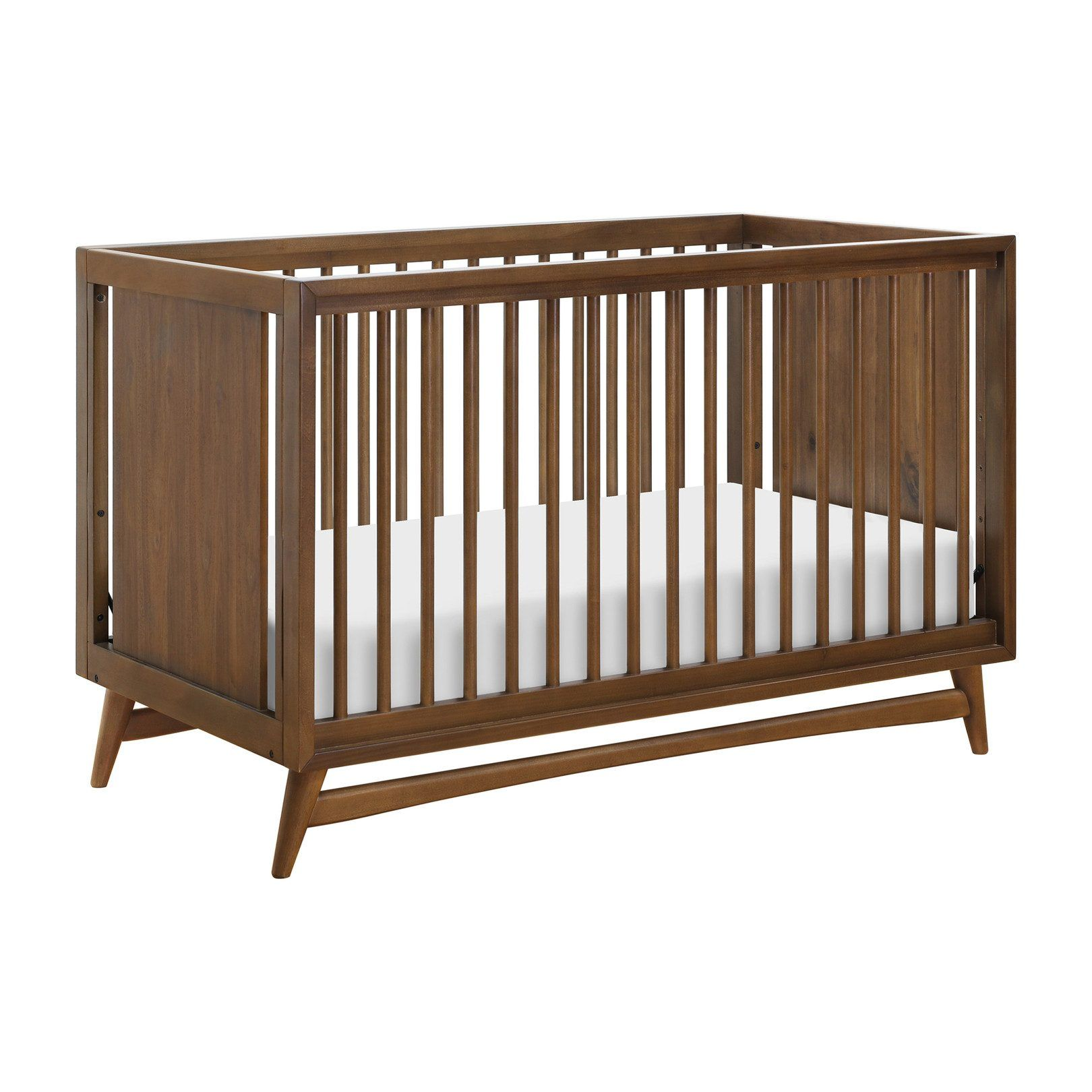 Babyletto Peggy 3 In 1 Convertible Crib With Toddler Bed Conversion Kit Natural Walnut Convertible Crib Baby Cribs Convertible Cribs