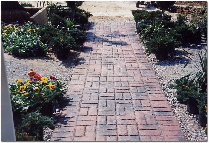 brick patterns for walkways brick pattern brick pattern stamped concrete front - Patio Brick Designs