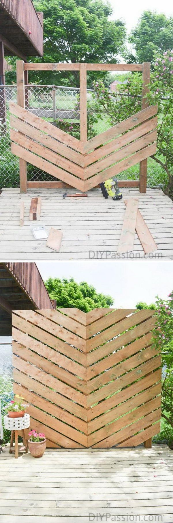 Merveilleux Inspire Your Outdoor With A Simple Chevron Privacy Wall.