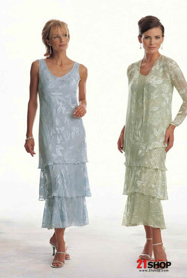 Mother Of The Bride Dresses Tea Length | ... Tea Length Chiffon ...