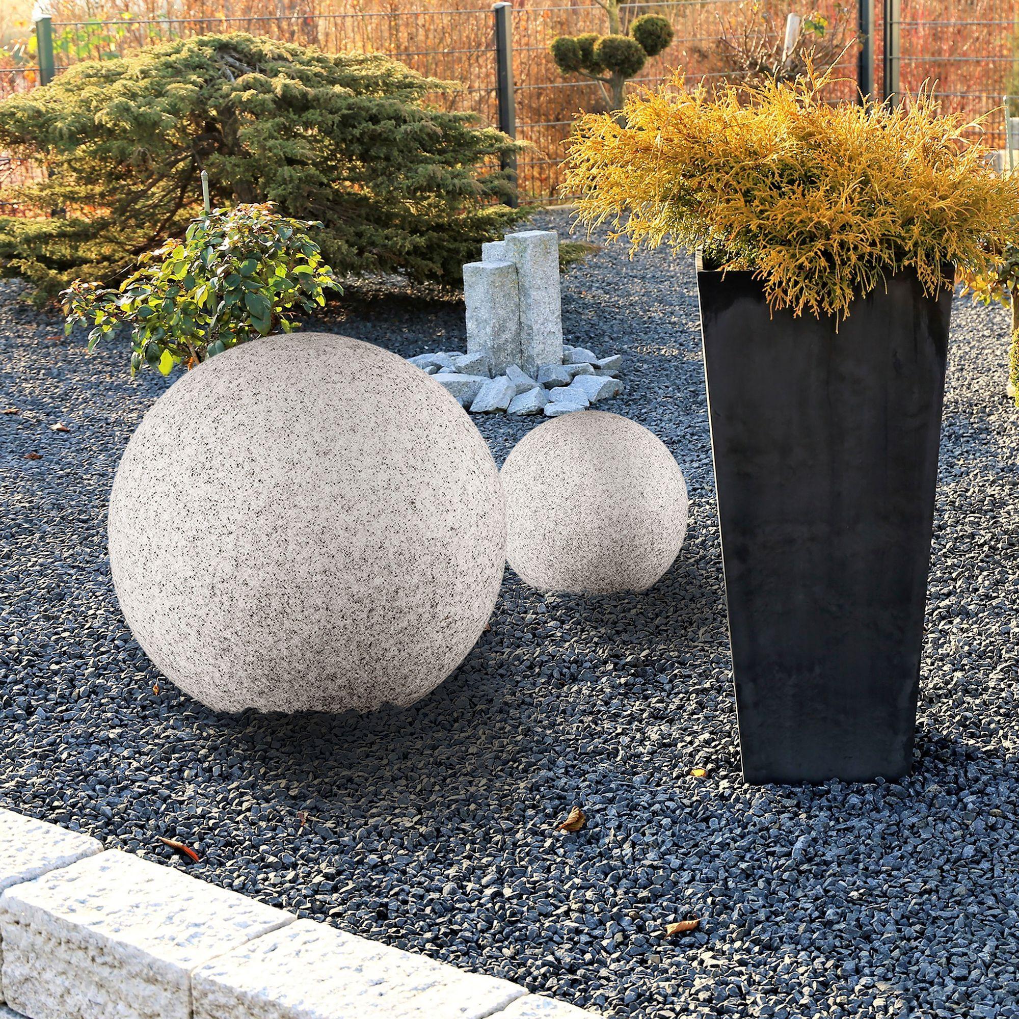 Leuchtkugel Gartenleuchte Stono 20 N Ip65 Inkl E27 Led Osram 10w Und 3m Kabel O 20cm E27 Led Led Beautiful Gardens