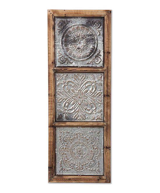 Punch Metal Floral Medallion Vertical Wall Art