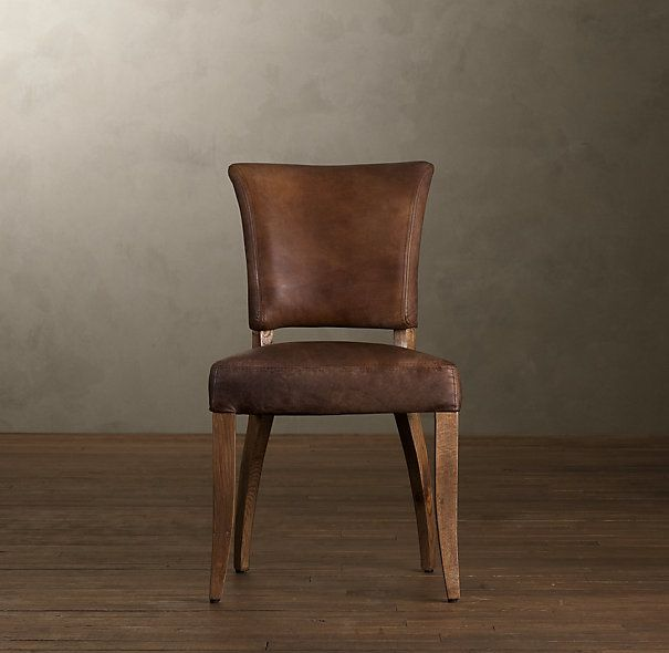 Groovy Adele Leather Side Chair Dining In Leather Dining Chairs Machost Co Dining Chair Design Ideas Machostcouk