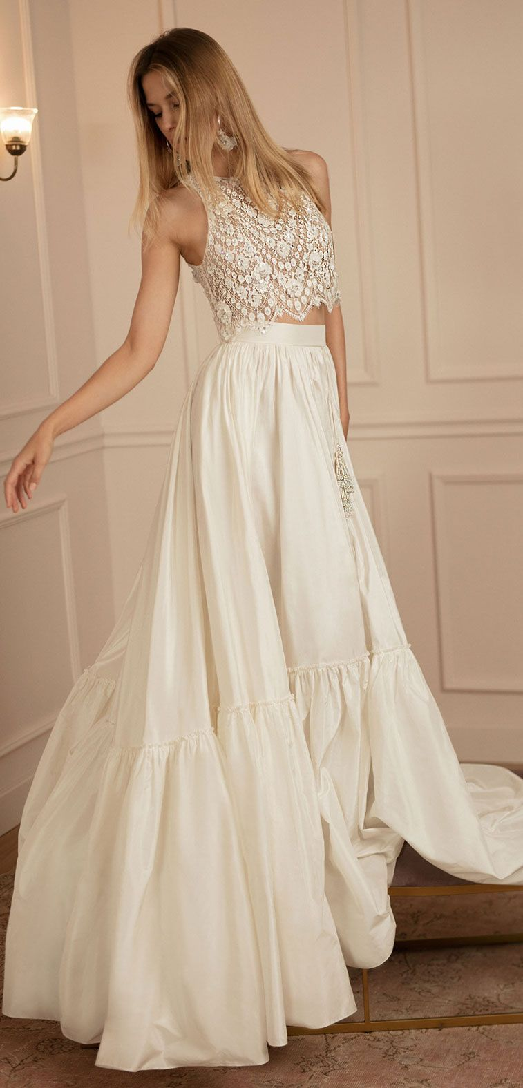 Wedding Dress Inspiration Two piece wedding dress