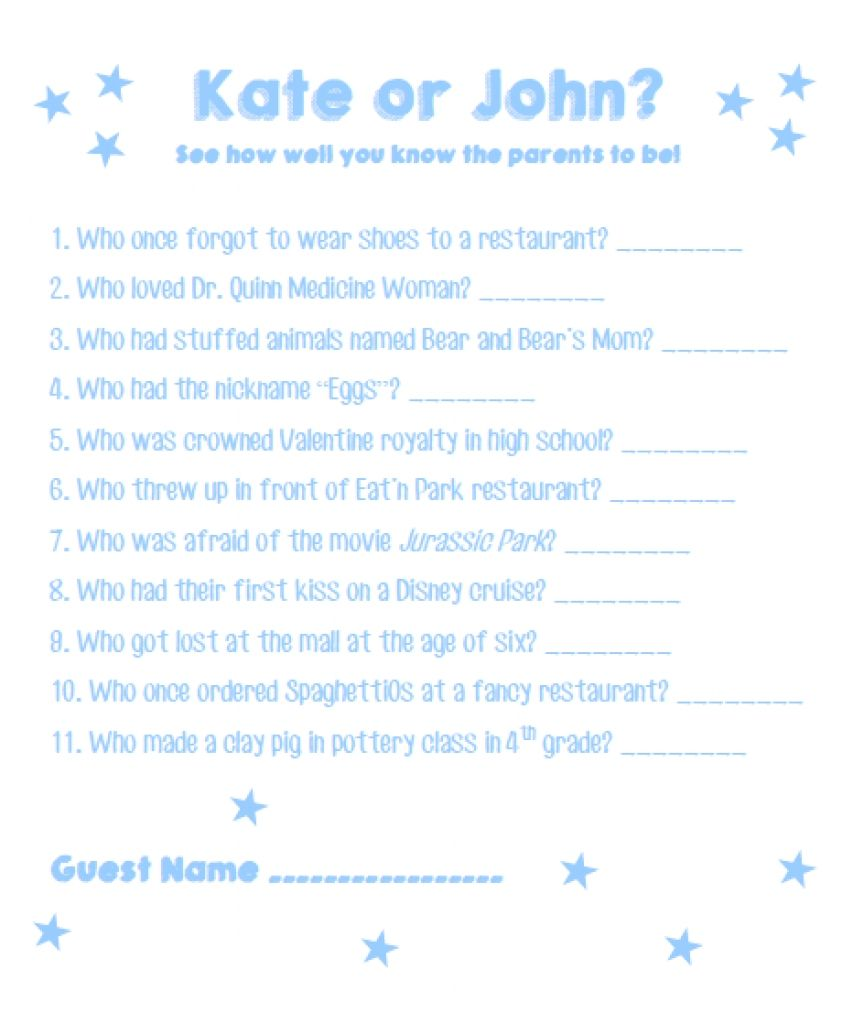 Baby Shower 20 Questions From Baby Shower 20 Questions Made Easy Check More  At Http:
