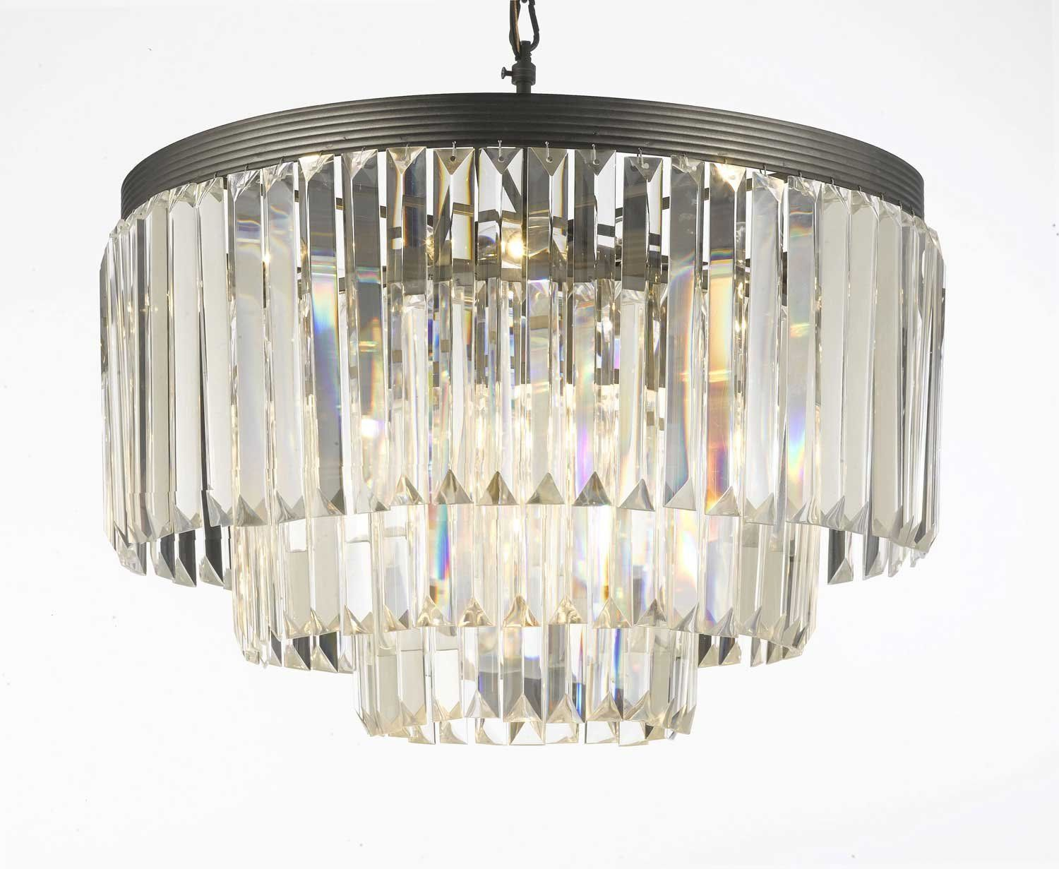 Amazon odeon crystal glass fringe 3 tier chandelier chandeliers amazon odeon crystal glass fringe 3 tier chandelier chandeliers lighting amazon aloadofball Gallery