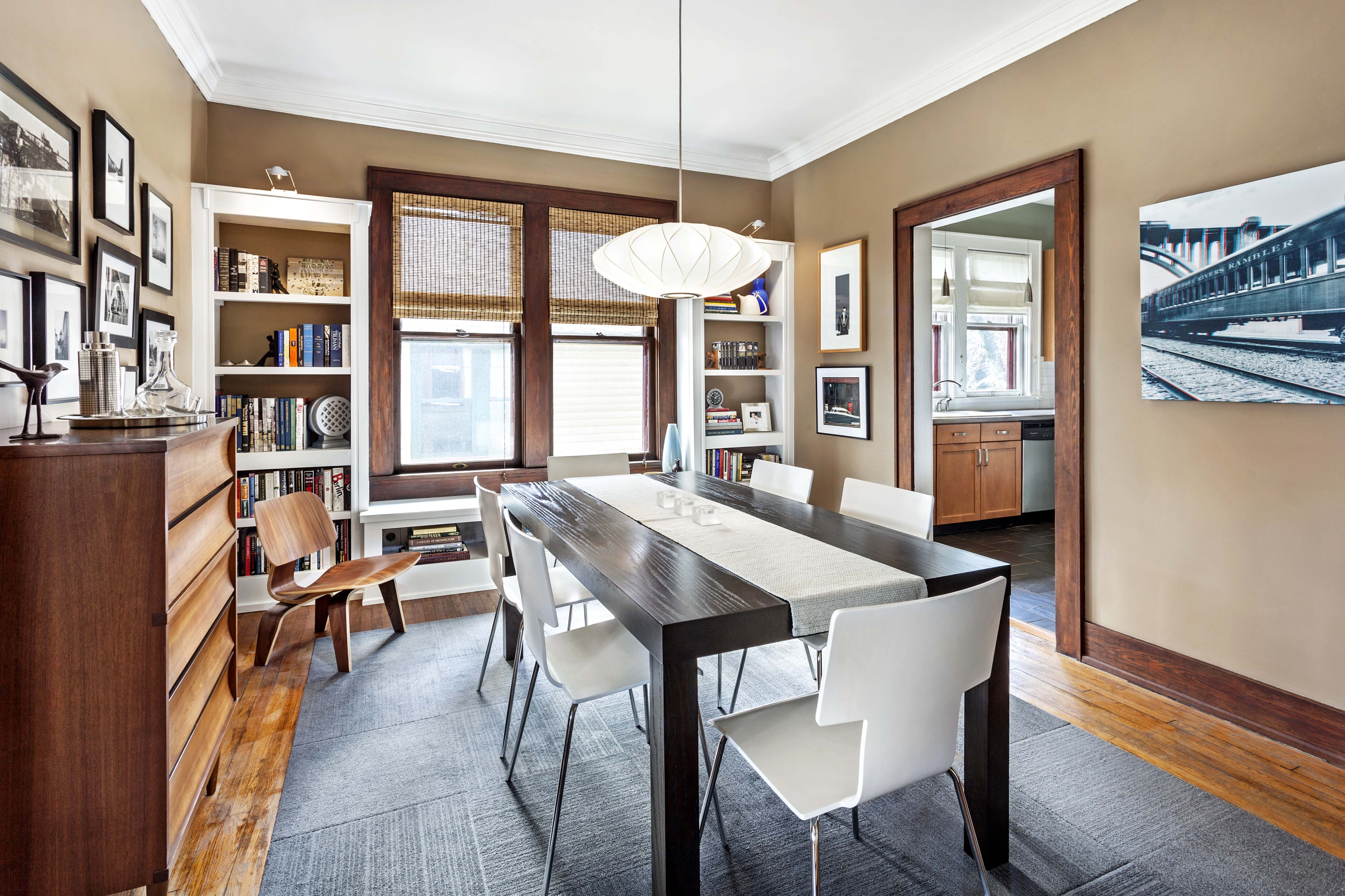 Dining Room In Renovated Craftsman 1920 Bungalow Mix Of Modern And Historic Old