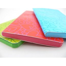 £4.50 small leather-look hearts notebooks filled with coloured paper...ideal for kiddies! Agatha Ruiz de la Prada...we love her!