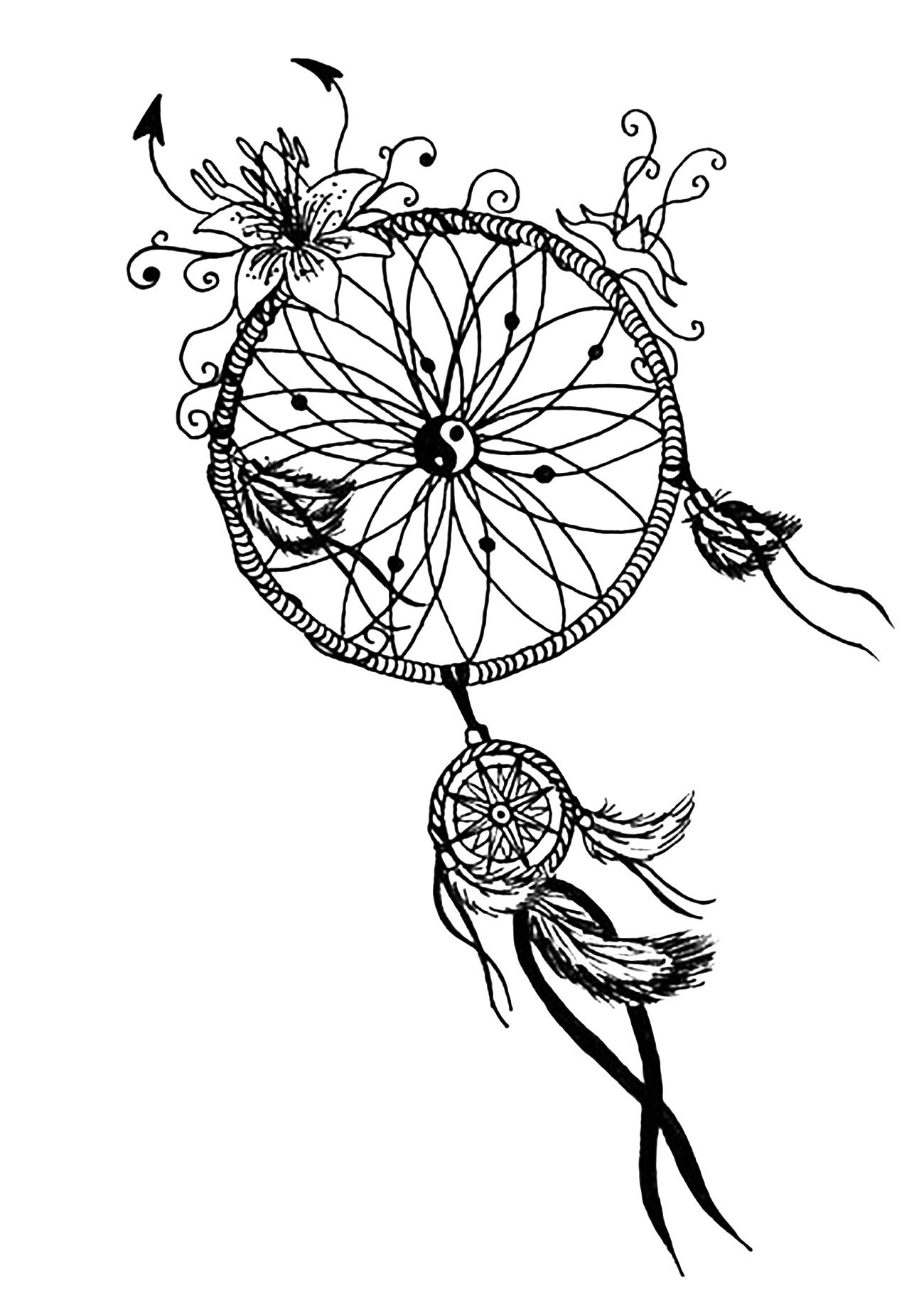 Dreamcatcher mandalafrom the gallery mandalas free printables