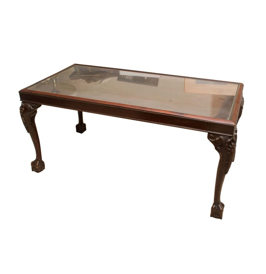Chippendale Style Glass Top Coffee Table Coffee Table Glass Top Coffee Table Glass Top [ 906 x 880 Pixel ]