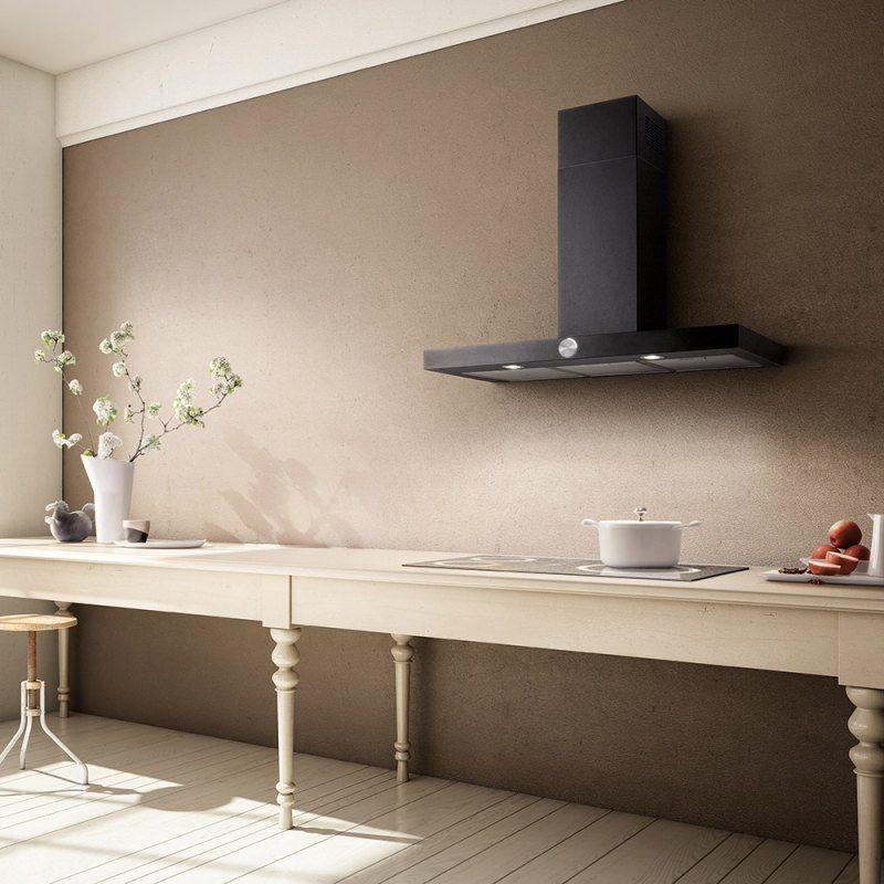 Hotte décorative design comme un point focal dans la cuisine u2013 105 - Table De Cuisine Avec Plan De Travail