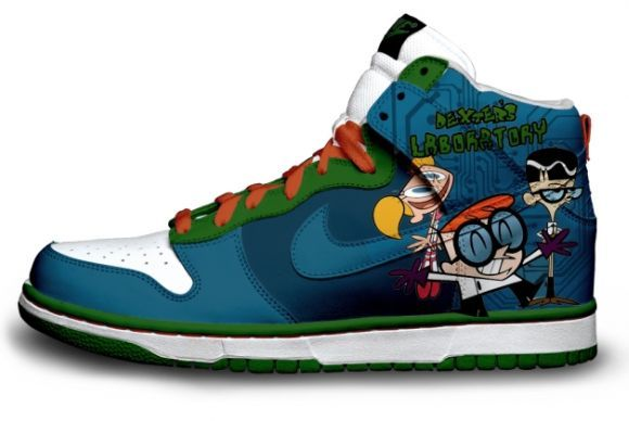 For Men Women   Dexter s Laboratory Cartoon Nike Dunks High Tops Shoes f8f7bcb32