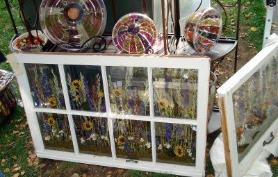 Flowers Pressed Between Double Paned Glass And Set Into An Old Window Frame This Is Amazing