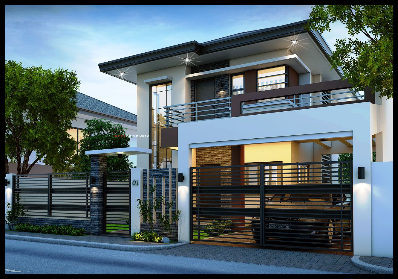2 Storey House Contemporary Story 17