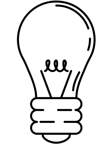 Lightbulb Coloring Page From Household Appliances Category Select From 26288 Print Free Printable Coloring Pages Light Bulb Printable Printable Coloring Pages