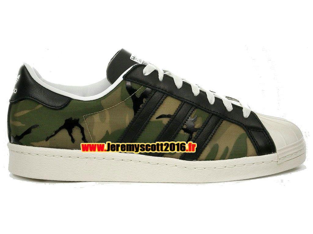 0c1e835d1a690d Adidas Originals Superstar - Chaussure Adidas Sportswear Pas Cher Pour  Homme Femme Vert Beige B26093