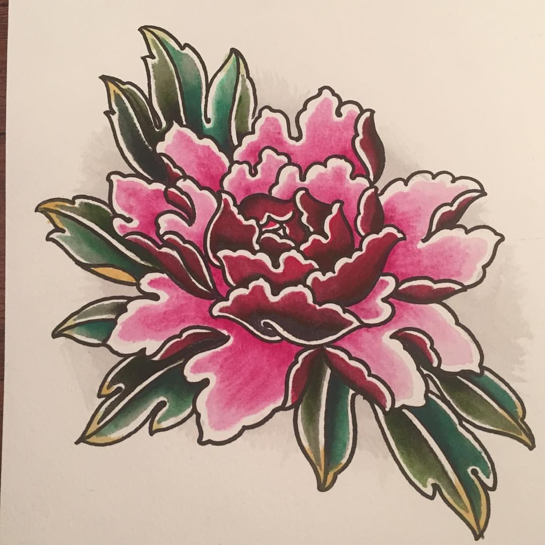 Peony Watercolor Flower Tattoos: Watercolour Peony From Our Shop Paint Night #peony