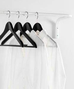 Ikea - MULIG clothes bar in white, wall mounted.