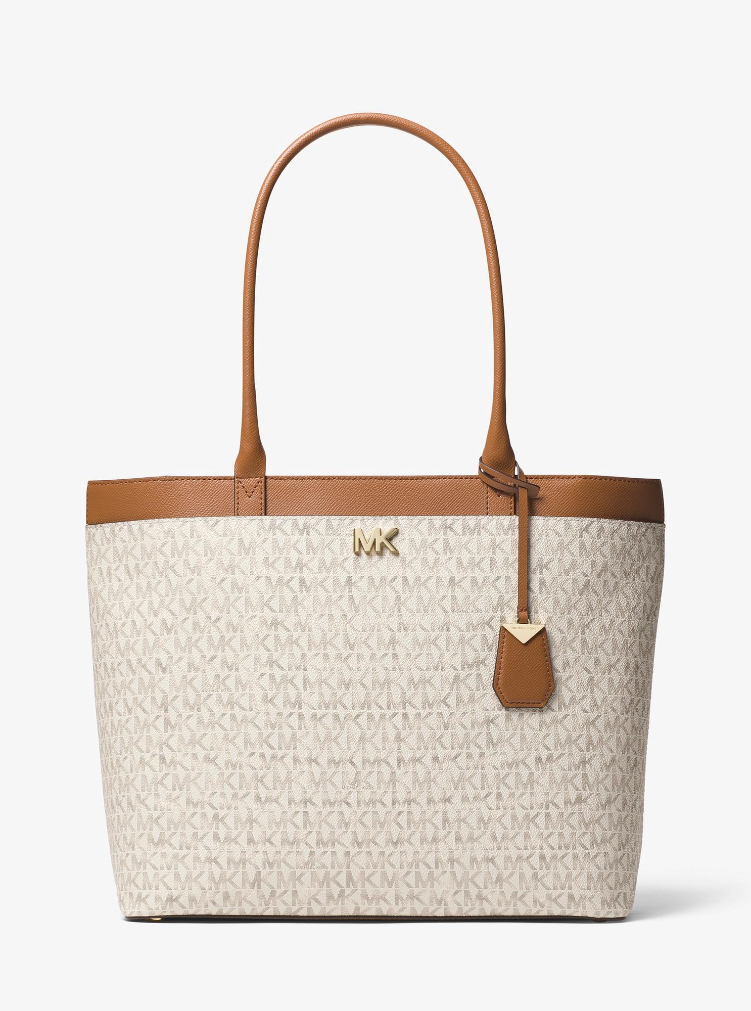 214149b746c1 Michael Kors Maddie Large Logo Tote - Vanilla