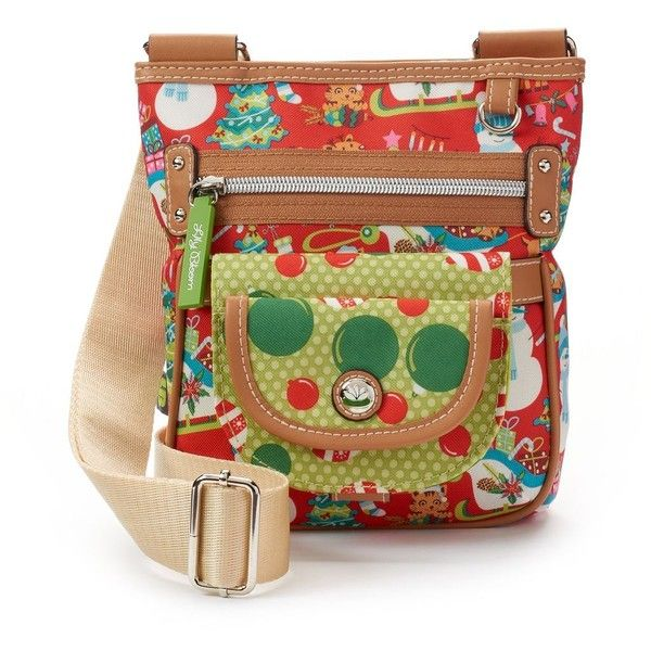Lily Bloom Christmas Graphic Crossbody Bag (Red) ($27) ❤ liked on ...