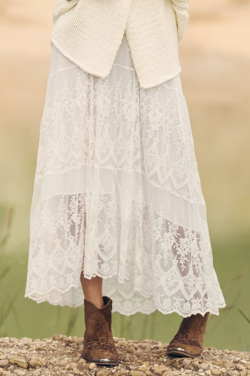 Ophelia Maxi Skirt - Off White | My Style | Pinterest | The gypsy ...