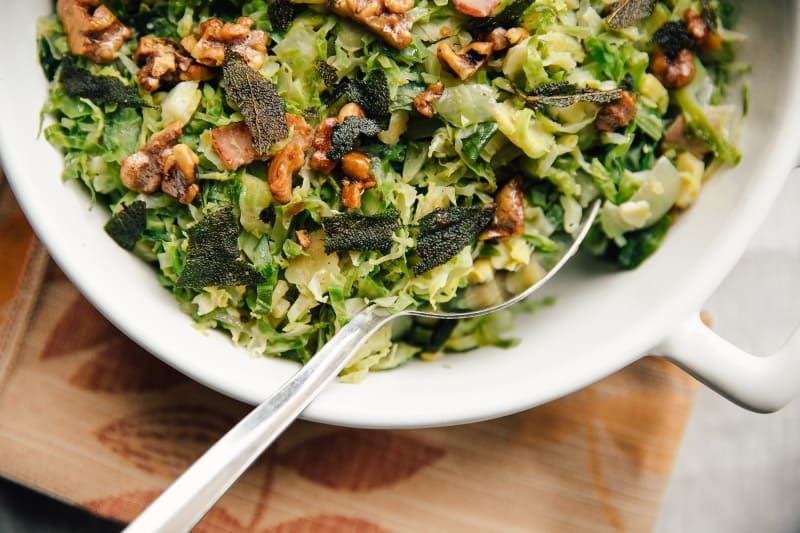 Stovetop Brussels Sprouts Hash With Crispy Sage And
