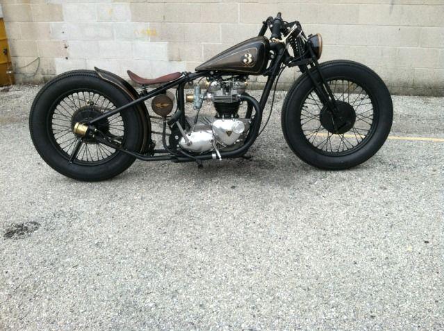 4 Stretch 2 5 Drop Prewar Girder 19 Front 18 Rear Bobber Motorcyle Vintage Bikes