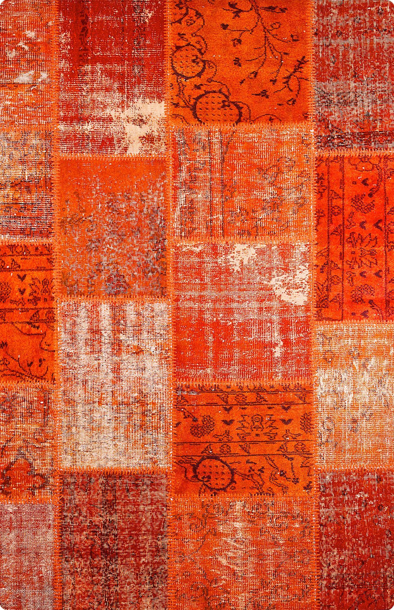 Vintage Patchwork Teppich - mozaiik Unikat Nr. 42TP